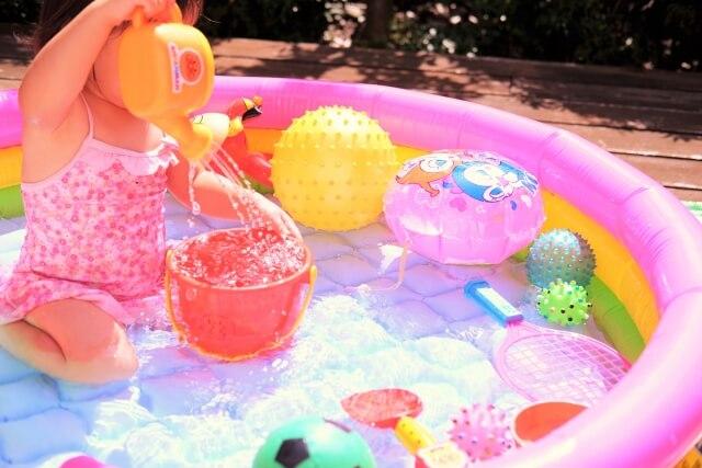 ベランダ プール 水の入れ方 2